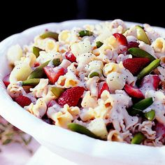 Fruity Pasta Salad...going to try this for one of the family picnics this year.