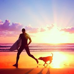 Surfing with buddy