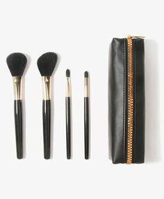 Cosmetic Brush Set & Bag | FOREVER21 - 1027704547