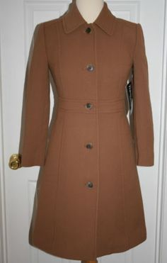 J-CREW-PETITE-DOUBLE-CLOTH-LADY-DAY-COAT-WITH-THINSULATE-SIZE-P00-DARK-CAMEL