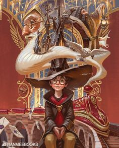 Dreams come true.⚡️ It's officially announced. I got to illustrate Harry Potter Anniversary Books (Thai Edition) - More details… Capa Harry Potter, Classe Harry Potter, Harry Potter Book Covers, Arte Do Harry Potter, Harry Potter Drawings, Harry Potter Anime, Harry Potter Characters, Harry Potter Fandom, Harry Potter Universal