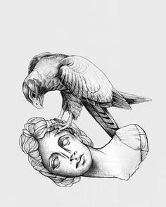 #collabo #veraickler #tristansvart #bust #falcon  #illustration #blackandwhite #inked  #illustrator #lines #blackandwhiteart #posterart #posterillustration #bandart #blackwork  #graphicdesign  #typography Blackwork, Illustrator, Typography, Graphic Design, Ink, Poster, Instagram, My Son, Letterpress