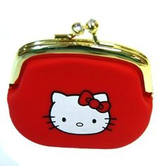 Hello Kitty Portable Clutch Wallet Coin Purse Red with Jewel Closure $11.95