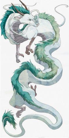 The olm reminded me of a fictional dragon character. Dragon Haku from the . - The olm reminded me of a fictional dragon character. Dragon Haku from the movie Spirited Away - Totoro, Art Anime, Anime Kunst, Fantasy Kunst, Fantasy Art, Fantasy Creatures, Mythical Creatures, Art Studio Ghibli, Studio Art