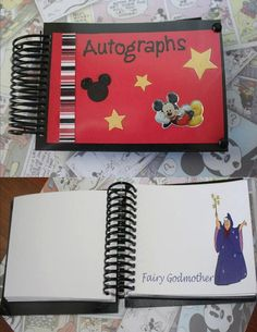 Custom Disney Autograph Book by AboutTheMouse on Etsy, $30.00
