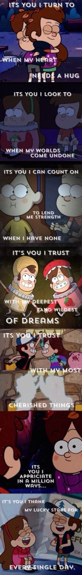 Gravity Falls Poem Edit by Theresa Hunter on Pinterest.