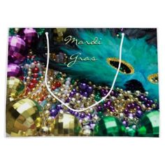 Mardi Gras Feather Mask Party Favor Gift Bags