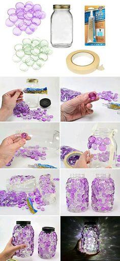más y más manualidades: Bellas manualidades con gemas de vidrio