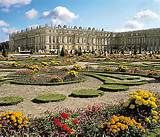 The gardens at the Palace of Versailles, France, designed by Andre Le ...