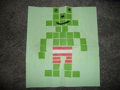 MAP : een kikker van blokjes en stroken....
