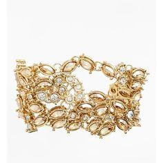 Women's St. John Collection 'Night Laurel' Bracelet (£79) ❤ liked on Polyvore featuring jewelry, bracelets, golden bracelet, st. john, golden jewelry, white bracelet y bracelet jewelry