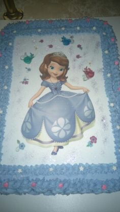 Sofia Sheet Cake With Edible Icing