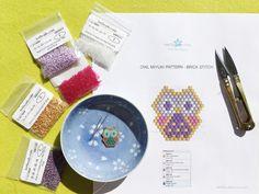 supplies needed for baby owl miyuki pendant