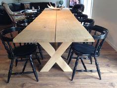 Find inspiration til dit egetræsplanke spisebord, sofabord, tv-bord