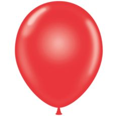 "36"" Crystal Tuf Tex Latex Balloons - Red"