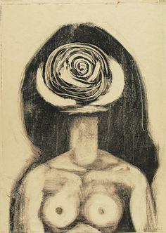 Andrzej Wróblewski Bust (Woman-Rose); 1957