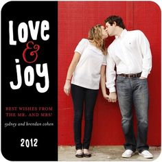 Flat Holiday Photo Cards Creative Love - Front : Black