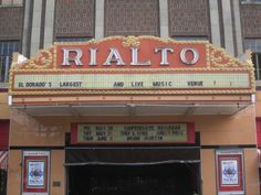 The Rialto: The Rialto Theater is a historic performing venue at 117 East Cedar Street in downtown El Dorado, Arkansas. Built in 1929 during El Dorado's oil boom years, the theater is one of the best local examples of Classical Revival architecture, and is one of the largest and most elaborately decorated performing spaces in southern Arkansas. The theater, which seats 1400, features a main entrance that has Egyptian Revival details and is flanked by storefronts. The brick of the front…
