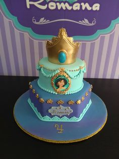 Amazing Photo of Princess Jasmine Birthday Cake Princess Jasmine Birthday Cake Princess Cake Romanas Cake Jasmine Cake Let Them Eat Cake Jasmine Birthday Cake, Aladdin Birthday Party, Aladdin Party, Birthday Cake Girls, 5th Birthday, Princess Birthday Cakes, Princess Cakes, Princess Party, Birthday Ideas