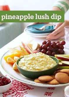 Pineapple Lush Dip – Taste the tropics in this delicious dip recipe, ready for the appetizer table in just 10 minute flat.