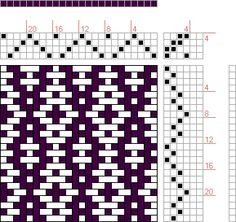 Hand Weaving Draft: Rosepath Ascending, Drafted on Pixieloom, 4S, 6T - Handweaving.net Hand Weaving and Draft Archive
