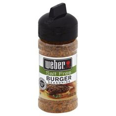 Burger Seasoning No MSG added?Except for naturally occurring glutamates Size: fl oz. Low Salt Recipes, Salt Free Seasoning, Burger Seasoning, Grocery Store, Walmart, Gluten Free, Lovely Things, Gravy, Food