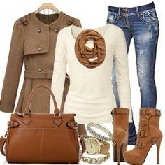 Beautiful women's fashion: love the boots and jeans