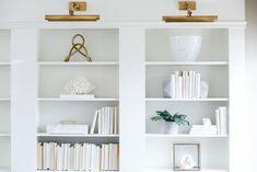 Ikea bookshelf hack - living with landyn. Ikea Billy Bookcase Hack, Built In Bookcase, Bookcases, Hemnes Bookcase, Custom Bookshelves, Small Bookshelf, Bookshelf Design, Modern Country, Layout Design