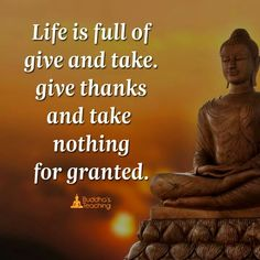 Life is full of give take. Give thanks and rake nothing