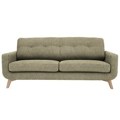 Buy John Lewis Barbican Large Sofa with Light Legs Online at johnlewis.com The sofa recommended by the shop assistant - was in leather in store. Comfy, but as wide as 53