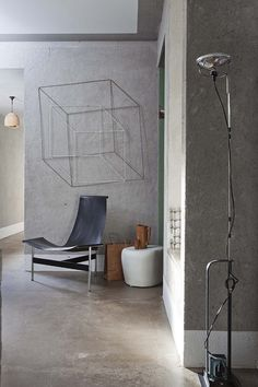 Scuplture légère en fils métalliques / cubes 3D #square #wall