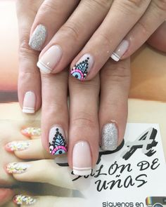 Uñas Nail Manicure, Manicures, Nail Polish, French Polish, Nail Technician, Nail Arts, Erika, Cute Nails, Diana