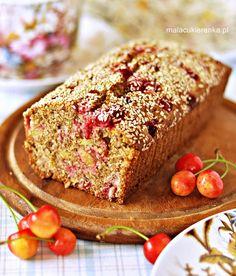 Ciasto z mąki pełnoziarnistej z owocami, bez cukru - Mała Cukierenka Healthy Recepies, Apple Cake, Banana Bread, Baking, Breakfast, Desserts, Yum Yum, Polish, Cakes