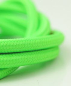 Zesty green smooth fabric lighting cable