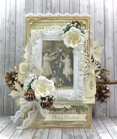 Cathrines hjerte. Christmas Card made with papers from Pion.