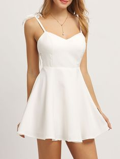 SheIn offers Embroidered Angel Wing Embellished Cami Dress & more to fit your fashionable needs. Source by - Hoco Dresses, Dance Dresses, Homecoming Dresses, Dress Outfits, Fashion Dresses, Summer Dresses, Sexy Dresses, Wedding Dresses, Year 10 Formal Dresses