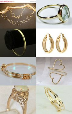 Glorious Gold Gifts! Treat yourself!