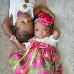 Precious baby boy and girl