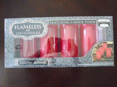 New Flameless LED Candles (4 PK / Pack, Real Wax, Vanilla Scent, Realistic Wick) $37.99