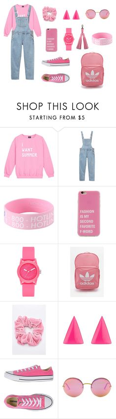 """""""Untitled #8"""" by xxabella ❤ liked on Polyvore featuring Monki, Skechers, adidas, Alexis Bittar, Converse, B Brian Atwood and Dr. Martens"""