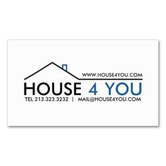 Real Estate Business Card. I love this design! It is available for customization or ready to buy as is. All you need is to add your business info to this template then place the order. It will ship within 24 hours. Just click the image to make your own!
