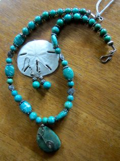 Amazonite Gemstone necklace and earring set by OceanArtisan