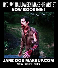 now booking halloween appointments for NYC JANE DOE MAKEUP New ...
