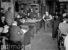 Bustling with activity is the results area of the Press Association's News Room, during the February 1952 General Election