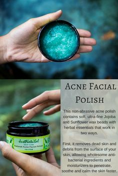 This non-drying and alcohol-free formula contains Vitamin E , which is a very potent antioxidant to help renew, hydrate and condition acne prone skin. This Clear Facial Polish gently exfoliates to leave your skin clean, smooth, bright and radiant.