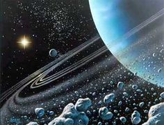 URANUS cannot be seen with the naked eye and indicates intuition. Rules, with Saturn, the Eleventh House which is the House of Fixed Air.