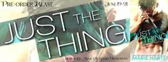 JUST THE THING    The Donnigans series book 2  by Marie Harte  Genre:Spicy Contemporary Romance  The sultry sex and seduction scenes are just the icing on this incredibly rich and satisfying cake. Readers will sit down read this book from cover to cover i