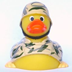 Pride yourself for being an honorable veteran or active military personnel. Inspire your children to serve the country. The rubber soldier duck is a perfect inspiration and a representation of your se