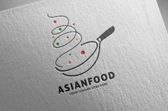 Asian Restaurant Logo by salmon.black on Creative Market : Asian Restaurant Logo by salmon.black on Creative Market Logo Restaurant, Bakery Logo, Restaurant Design, Cake Logo Design, Food Logo Design, Brand Identity Design, Branding Design, Creative Logo, Vintage Logos