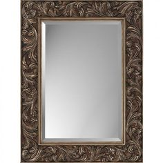 Paragon Rectangle Aged Gold Acanthus Leaf Mirror - 8840